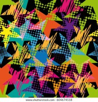 Abstract Seamless Stars Pattern Pop Art Stock Vector ...