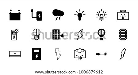 Electricity Icon Stock Images, Royalty-Free Images