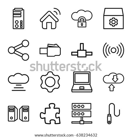 Set 30 Quality Icons About Internet Image Vectorielle