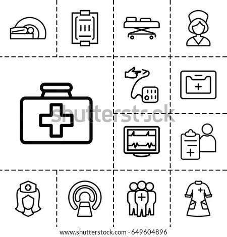 Patient Icons Set Set 16 Patient Stock Vector 617649437