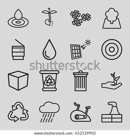 Environmental Pollution Icons Strokes Editable Stock