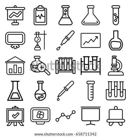 Science Chemistry Icon Set เวกเตอร์สต็อก 212741935