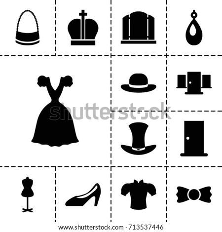 Clothing Store Shopping Icon Vector Stock Vector 146323499