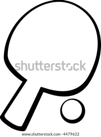 Ping Pong Paddle Ball Stock Illustration 53597836