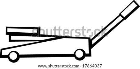 Hydraulic Floor Jack Stock Vectors & Vector Clip Art