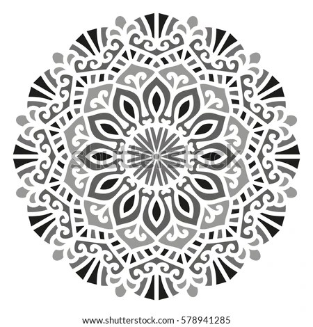 Mandala Vector Ethnic Oriental Circle Ornament Stock