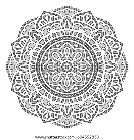 Mandala Vector Ethnic Oriental Circle Ornament Stock