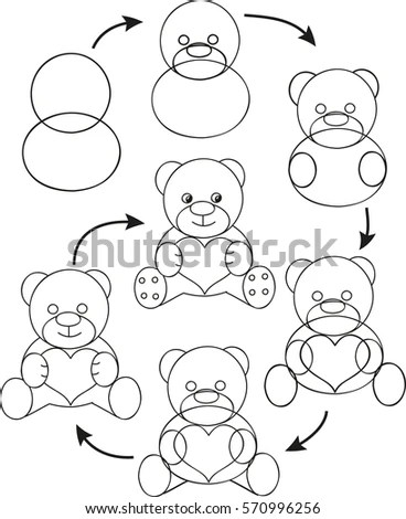 Coloring Page Outline Cartoon Rabbit Carrot Stock Vector