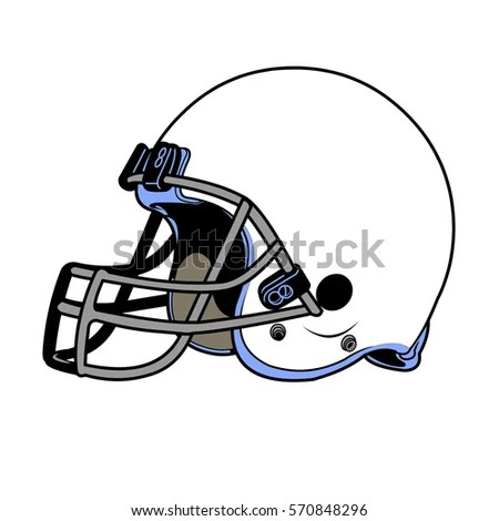Helmet Football Team Outline Stock Vector 46056328