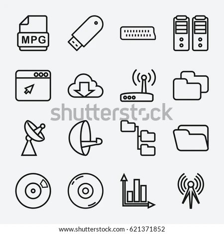 Information Technology Icons Stock Images, Royalty-Free