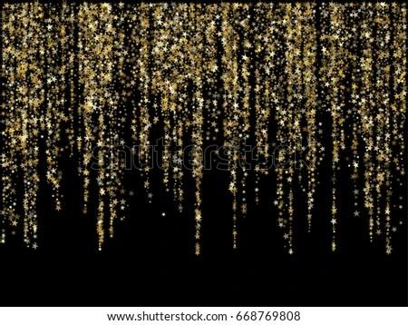 Falling Glitter Confetti Wallpapers Golden Glitter Festoons Dangling Background Vector Stock