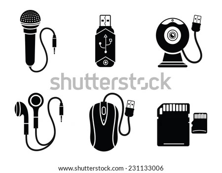 Singing Characters Isolated On White Man Stock Vector