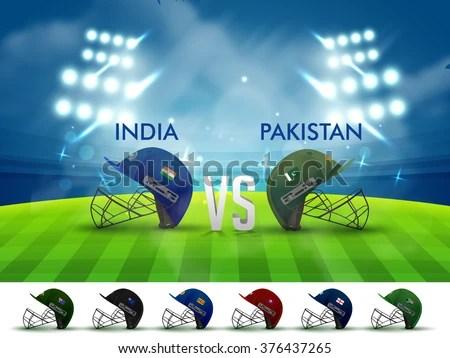 India Vs Pakistan Cricket Match Concept Stock Vector ...