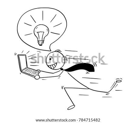 Light Bulb Above Head Cartoon Person Head Wiring Diagram