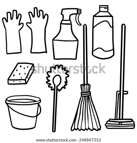 Cleaning Tools Coloring Coloring Pages