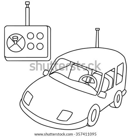 Vector Set Remote Control Car Stock Vector 357411095