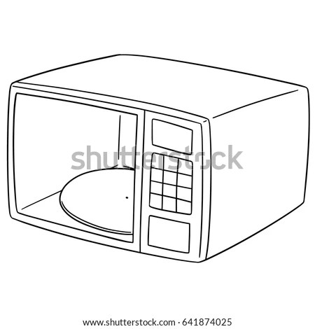 Microwave Oven Coloring Pages Sketch Coloring Page