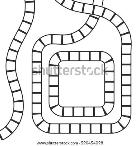 Abstract Futuristic Maze Square Pattern Template Stock