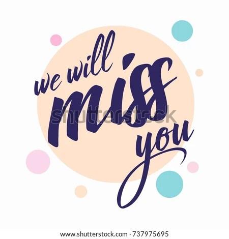 Farewell Card All Best Template Stock Vector 737975695 - Shutterstock