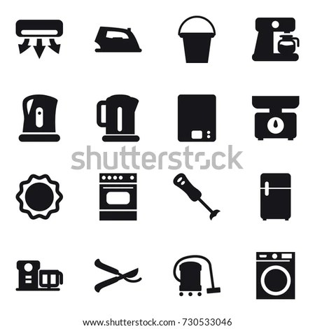Home Electronics Icon Set Stock Vector 100328105