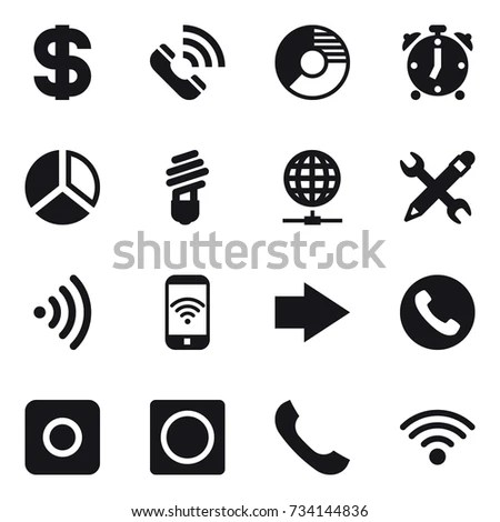Communication Icons Connection Symbols Wifi Gsm Stock