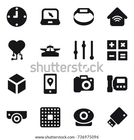 16 Vector Icon Set Target Audience Stock Vector 726627577