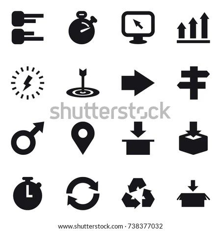 Simple Set Electronic Components Related Vector Stock