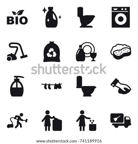 Simple Set Cleaning Related Vector Line 스톡 벡터 560973466