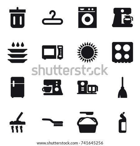 Silhouette Bathroom Personal Care Icons Vector Stock