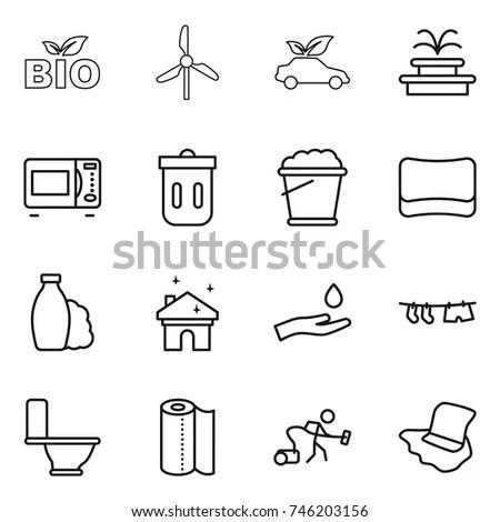 Vector Illustration Waste Management Symbols Sketch Stock