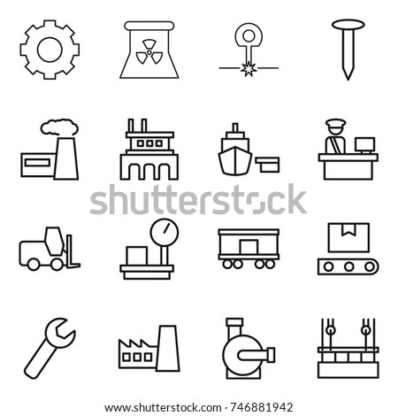 Set Icons Machine Tool Isolated On Stock Vector 232852318