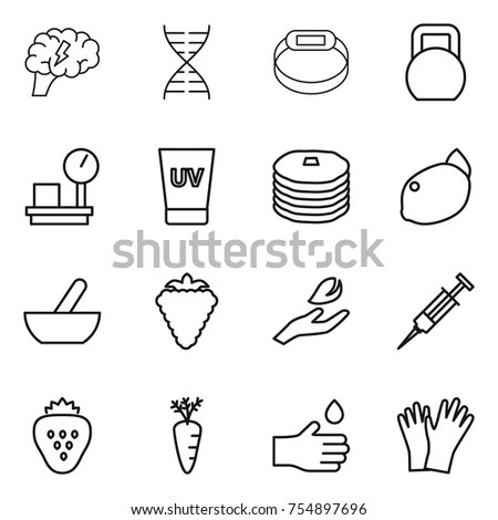 Various Types Fortune Telling Hand Drawn Stock