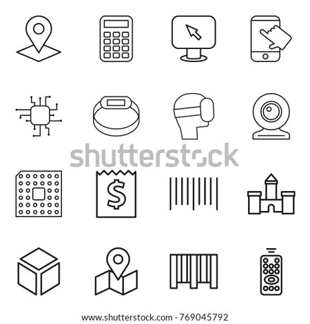 Simple Set Check Code Related Vector Stock Vector