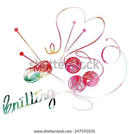 Download Love Knitting Stock Vector 247590997 - Shutterstock