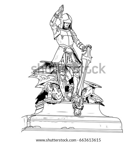 16th Century Jewel Encrusted Statue Saint Stock Vector