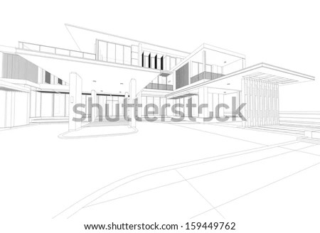 Building Outline Stock Photos, Images, & Pictures