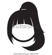 ponytail hairstyle stock vector
