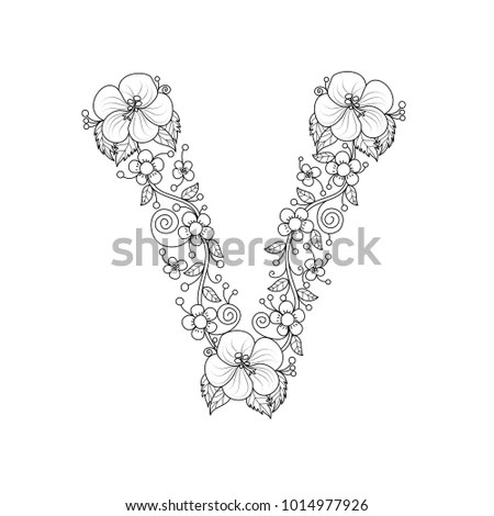 Floral V Stock Images, Royalty-Free Images & Vectors