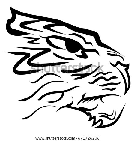 Tiger Head Outline Stock Images, Royalty-Free Images