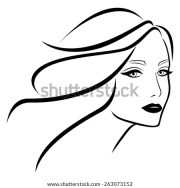 abstract beautiful young lady wavy
