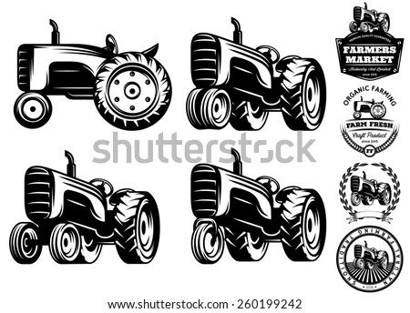 Vintage Tractor Stock Images, Royalty-Free Images