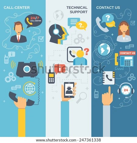Technical Support Call Center Contact Us Stock Vector 247361338  Shutterstock