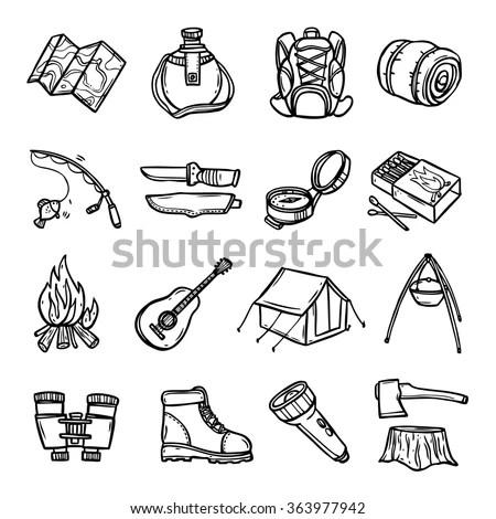Downhill Skiing Icons Illustration Libre De Droits
