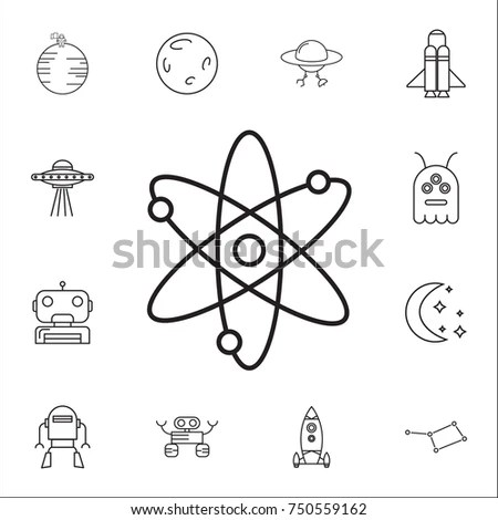 Symbols Physics Vector Elements Design Eps8 Stock Vector
