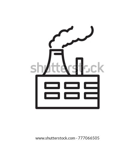 Thermal Power Plant Vector Icon Stock Vector 777066505