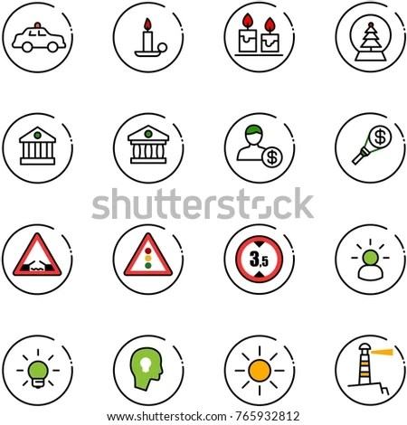 Regulations Chart Keywords Icons On Yellow Stock Vector