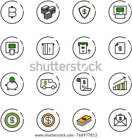 Vector Icons Pack Green Series Mall Stock Vector 62064448