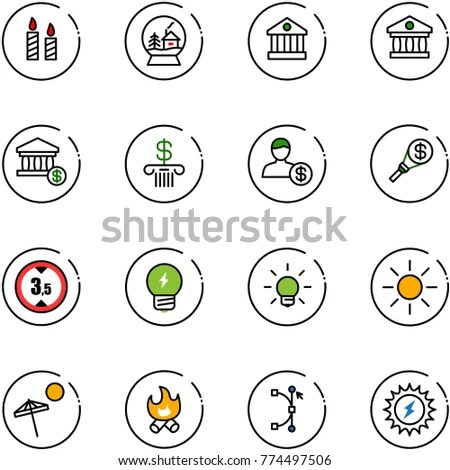 Stroke Line Icons Set Well Being Stock Vector 422036440