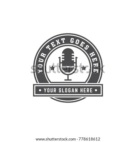 Microphone Logo Stock Images, Royalty-Free Images