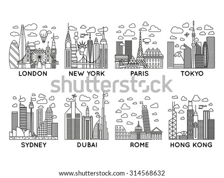 City-line Stock Images, Royalty-Free Images & Vectors